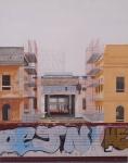 """""""Ostiense 5"""" Dipinto ad olio su legno, misure 70 x 90 cm, Anno 2015 di Maurizio Ciccani"""