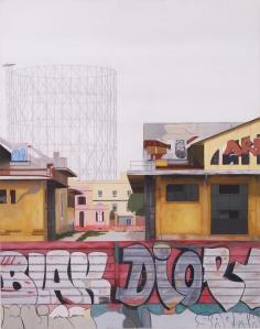 """""""Ostiense 6"""" Dipinto ad olio su legno, misure 70 x 90 cm, Anno 2015 Maurizio Ciccani"""