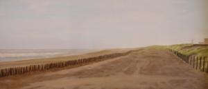 """""""Mattina"""", Dipinto ad olio su legno, misure 37 x 85 cm, Anno 2011 di Maurizio Ciccani"""