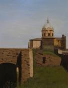 """""""Roma antica"""", Dipinto ad olio su tela, misure 55 x 45 cm, 2013 di Maurizio Ciccani"""