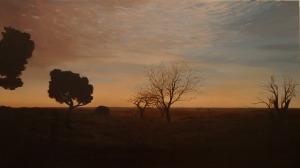 """""""in quell'attimo"""" Dipinto ad olio su tela , misure 62 x 109 cm, anno 2014 di Maurizio Ciccani"""