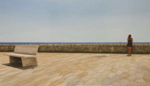 """""""Lungomare di Gallipoli"""" - Dipinto ad olio su legno, misure 62 x 101 cm Anno 2016 Maurizio Ciccani"""