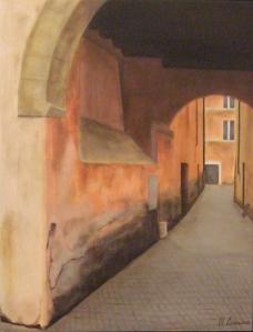 """""""Suggestione"""" , dipinto ad olio su legno, misure 43 x 32 cm, Anno 2013 di Maurizio Ciccani"""
