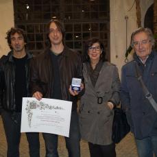 """Maurizio Ciccani Riceve il premio """"Talento Creativo"""" Consiglio Regionale del Lazio. Novembre 2013"""