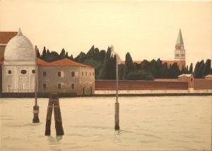 """""""Laguna di Venezia"""" dipinto ad olio su tela, misure 21 x 32 cm , Anno 2012"""