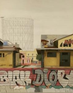 """""""Ostiense 6"""" Dipinto ad olio su legno, misure 70 x 90 cm, Anno 2015 di Maurizio Ciccani"""