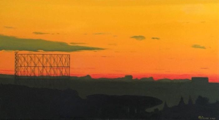 Maurizio Ciccani dipinto ad olio Roma Gazometro Vendita Via Portuense 221 .jpg