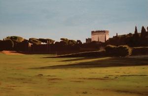 dipinto ad olio su legno Maurizio Ciccani