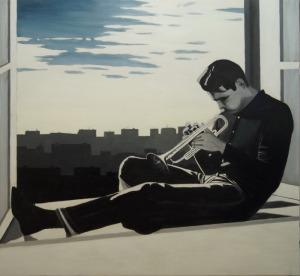 dipinto ad olio su tela Maurizio Ciccani